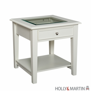 Pristine White Somerset Stunning Wooden End Table by Southern Enterprises
