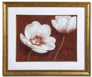 Prized Blooms Floral Wall Decor in Gold Leaf Finish Brand Uttermost