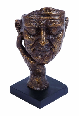 Profound Thinking Man Sculpture In Polystone Cast Brand Woodland