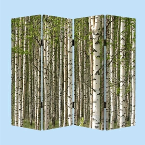 Prolific Forest Screen, 4 Panel Canvas, 48 Inch L X 72 Inch H Brand Screen Gems