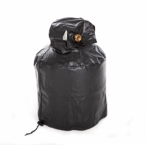 "Propane Tank Vinyl Cover with Adjustable Bottom Cord & Velcro Top 12""D 18""H by Well Travel Living"