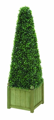 "Pyramid Boxwood with Unique Design Floral Decor34"" Height Brand Woodland"