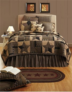 Queen Bedding - Bingham Star Style Luxury Quilt For Your Bed Brand VHC