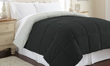 Queen Size Reversible Comforter from Down Alternative in� Anthracite/Silver