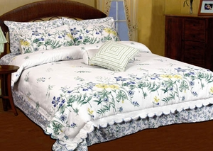 Queen Sized 100% Polyester Filled Spring Bouquet Comforter by American Hometex