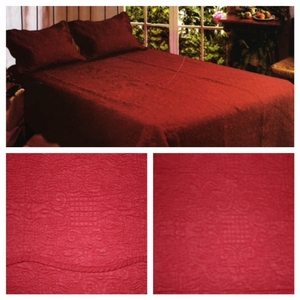 Queen Sized Harmonious Mist Brick Quilt with 100% Cotton Filled in Red by American Hometex