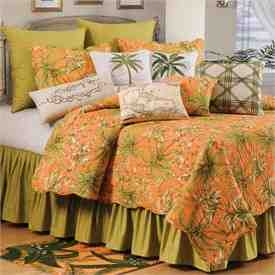 Quilt King Size, Barbados Sunset, 108 Inch X 92 Inch, Cotton Brand C&F