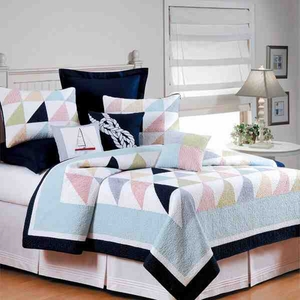 Quilt King Size, Southwinds, 108 Inch X 92 Inch, Handmade Brand C&F