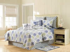 Quilt Queen Size, Shabby Chic Blue, Cotton, 90 Inch X 92 Inch Brand C&F