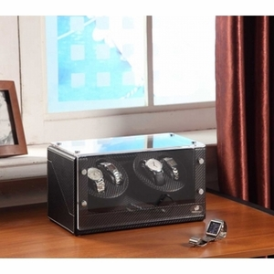 Racing 4 Watch Winder with Sturdy Construction in Carbon Fiber Brand Nathan