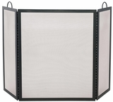 Radiant 3 Fold Black Wrought Iron Large Screen