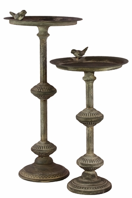 Radiant & Classic Set of Metal bird Feeder by Urban Trends Collection