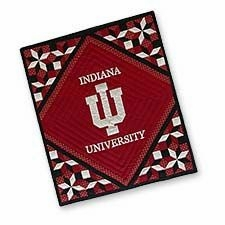 Radiant Quilted Throws with the University of Indiana Logo Brand C&F
