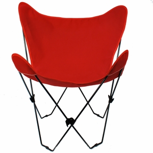 Radiant Red Replacement Cover for Butterfly Chair by Alogma