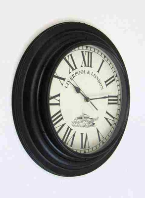 Railway Clock - British Timepiece With Liverpool & London Label Brand IOTC