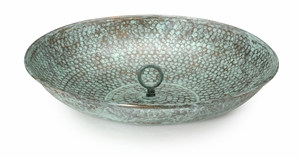 Rain Chain Basin - Blue Verde Copper by Good Directions