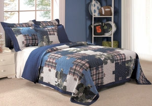Ranger Quilt Witty Design Contemporary Twin Set Brand Greenland