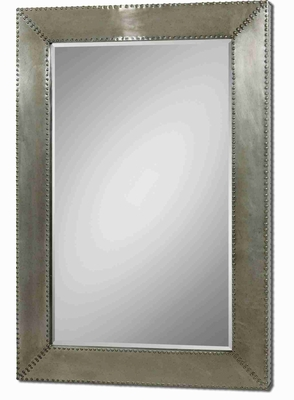 Rashane Metal Wall Mirror with Stained Silver-Champagne Aluminum Frame Brand Uttermost