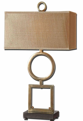 Rashawn Coffee Bronze Table Lamp with Matte Black Foot Brand Uttermost