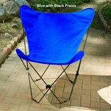 Ravishing Blue Colored Fabric Foldable Chair by Alogma