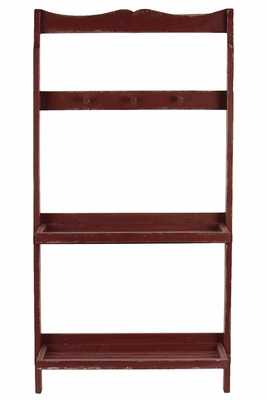 Ravishing Red Wooden Fashionable Shelf and Hanger by Urban Trends Collection