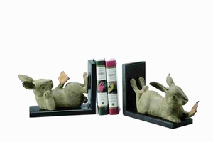 Reading Rabbit Bookends Unique Because Of Its Comic Look Brand SPI-HOME