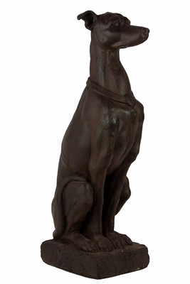 Realistic Brown Fiberstone Dog Statue by Urban Trends Collection