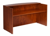 Reception Desk, 71W X 30/36D X 42H, Cherry by Boss Chair