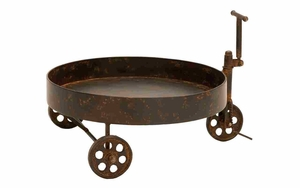 Reclaim Metal Barrel Trolley, Restoration Look Barrel Trolley Brand Woodland