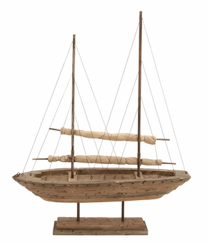 Reclaimed Wood Sail Boat Liking Of Experienced Maritime Collectors Brand Woodland