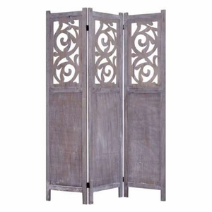 Recoiled 3 Panel Screen Crafted with Artistic Detailing Brand Screen Gem