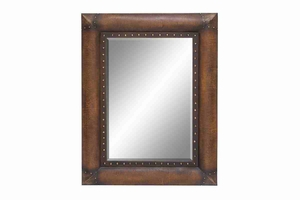 "Rectangular 54701 Wood Mirror 52""H, 40""W- Affordable Decor Brand Woodland"