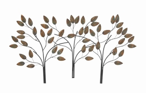 Rectangular Shaped Metal Leaf Decor with Classy and Modern Look Brand Woodland