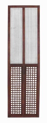 Rectangular Wooden and Metal Wall Panel with Elegantly Designed Brand Woodland