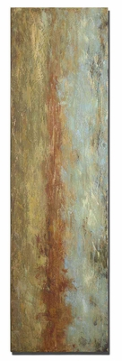 Red Clay Frameless Stretched Canvas Hand Painted Art Brand Uttermost