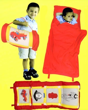 Red Colored All In One Fireman Kids Nap Roll by American Hometex