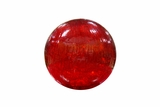 Red Crackled Glass Ball with LED Lights - Small by Alpine Corp