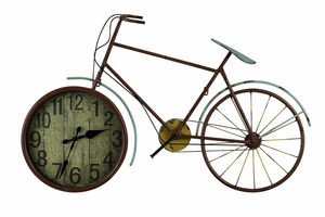 Red Finish Contemporary Styled Hilde Clock by Cooper Classics