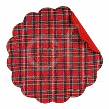 Red Plaid Tabletop Collection, Red Plaid Dining Room/Kitchen Decor Brand C&F