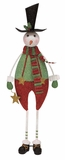 "Red White Green Xmas Snowman 28"" H Holiday Decor"
