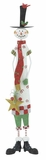 "Red White Green Xmas Snowman 36"" H Holiday Decor"