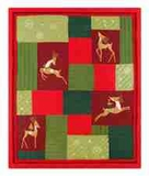 Reindeer Whimsy Holiday Throw, 50 Inch X 60 Inch Brand C&F