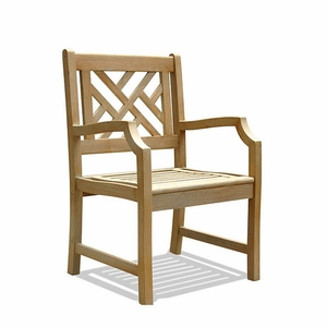 Renaissance Acacia Patterned Back Outdoor Armchair by Vifah