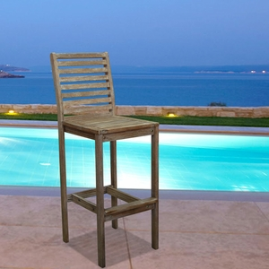 Renaissance Outdoor Hardwood Bar Chair by Vifah