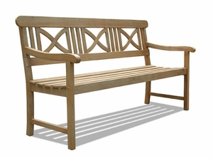Renaissance Outdoor Hardwood Bench by Vifah