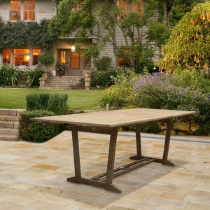 Renaissance Outdoor Hardwood Rectangular Extension Dining Table by Vifah