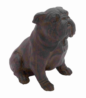 Rennes Bull Dog Uniquely Artistic Riveting Home D�cor Brand Benzara