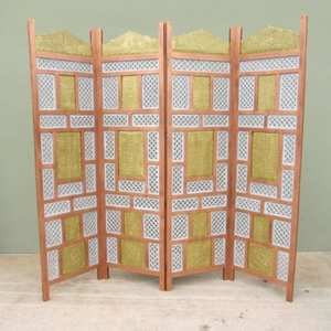 Rennes Screen, Four-paneled And Multicolored Artistic Home Decor Brand IOTC