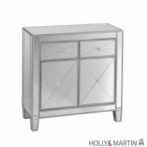 Replenishing Holly & Martin Montrose Mirrored Cabinet by Southern Enterprises