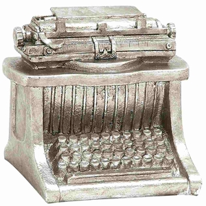 Retro Styled Silvery Significant Typewriter D�cor Brand Benzara